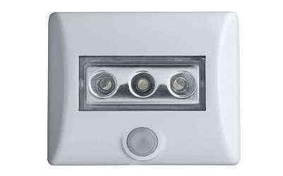 Luminária com tecnologia LED e sensor de movimento usa três pilhas e pode ser fixada com adesivo, ímã ou parafusos - Osram/Divulgação
