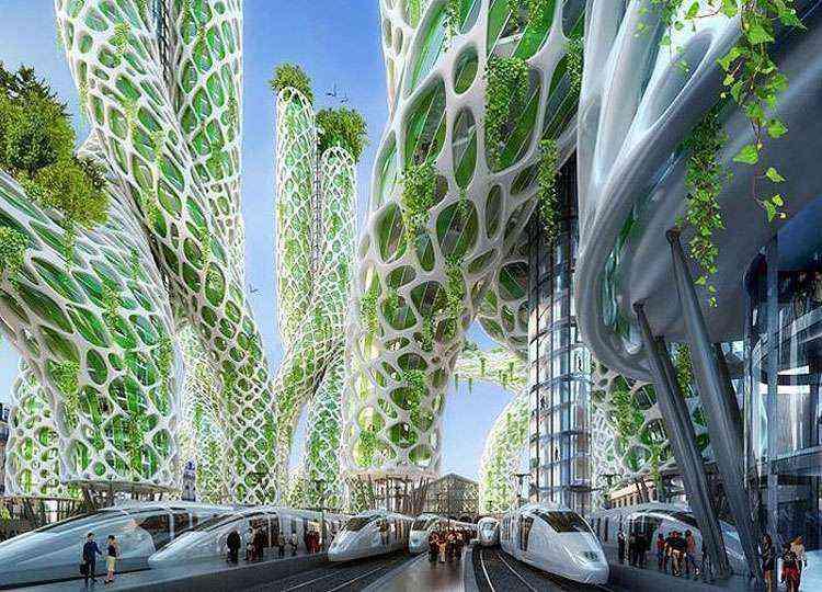 Visão futurística de Paris por Vincent Callebaut - Vincent Callebaut Architecture/Divulgação