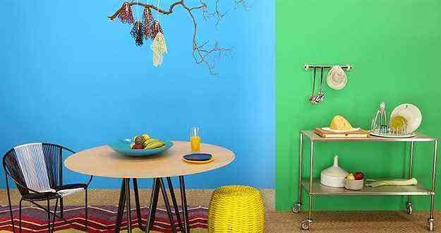 A curaçau blue, com tons em verde e azul, foi a cor escolhida pela Suvinil para 2014 - Suvinil/Divulgação