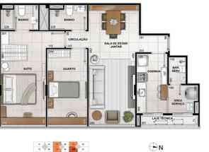 Apartamento, 2 Quartos, 2 Vagas, 1 Suite em Sqnw 103, Noroeste, Brasília/Plano Piloto, DF valor de R$ 1.105.000,00 no Lugar Certo