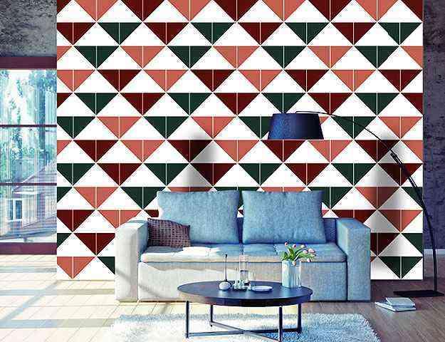 Versatilidade dos painéis de azulejo possibilita exclusividade a qualquer espaço, que ganham como destaque as cores e formas dos desenhos  - Divulgação/Bruna Albuquerque
